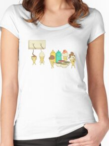 Ice Cream Hair Fun Women's Fitted Scoop T-Shirt