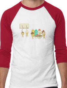 Ice Cream Hair Fun Men's Baseball ¾ T-Shirt