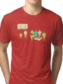 Ice Cream Hair Fun Tri-blend T-Shirt