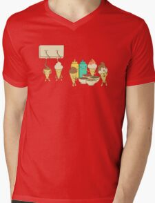 Ice Cream Hair Fun Mens V-Neck T-Shirt