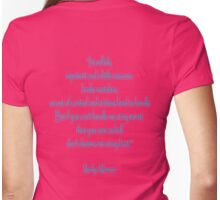 "Marilyn Monroe, ""I'm selfish, impatient and a little insecure."" Monroe Womens Fitted T-Shirt"