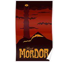 Mordor vintage travel poster Poster