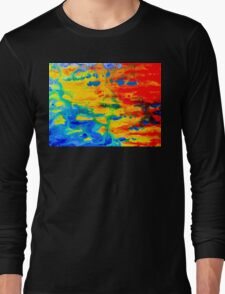 Color Splash Abstract Long Sleeve T-Shirt