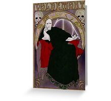 Lord Voldemort Greeting Card