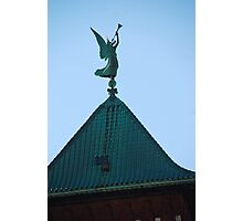 Angel of Judgement, Angel Gabriel - St. Marys Historical Church Photographic Print