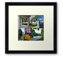Summer at the Preston Temple - Collage Framed Print