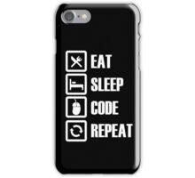 Eat, Sleep, Code, Repeat! iPhone Case/Skin