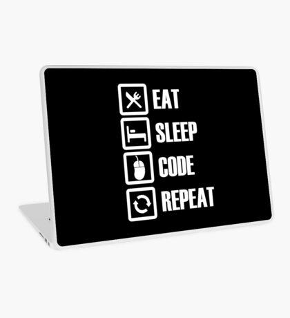 Eat, Sleep, Code, Repeat! Laptop Skin
