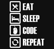 Eat, Sleep, Code, Repeat! Kids Clothes