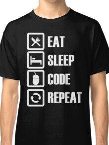 Eat, Sleep, Code, Repeat! Classic T-Shirt