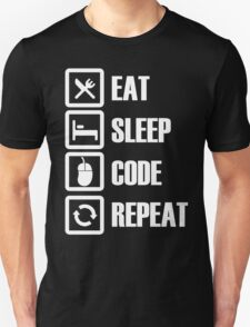 Eat, Sleep, Code, Repeat! T-Shirt