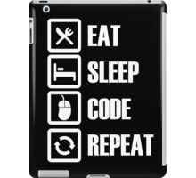 Eat, Sleep, Code, Repeat! iPad Case/Skin