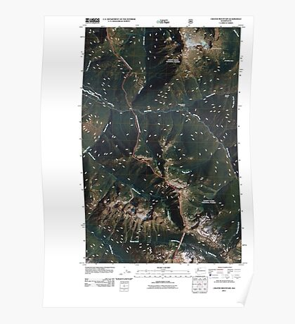 USGS Topo Map Washington State WA Crater Mountain 20110427 TM Poster
