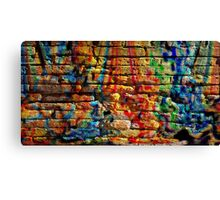 If you build your walls too high to reach, just paint them with love and color Canvas Print