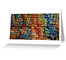 If you build your walls too high to reach, just paint them with love and color Greeting Card