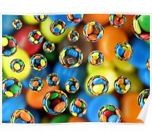 Colorful Drops 5 Poster