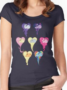 Group Heart Women's Fitted Scoop T-Shirt