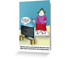 Wii Fit Greeting Card