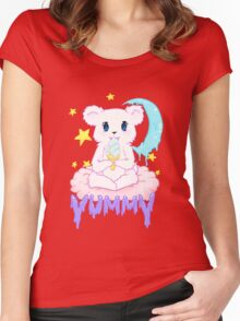 Moony Bear Women's Fitted Scoop T-Shirt