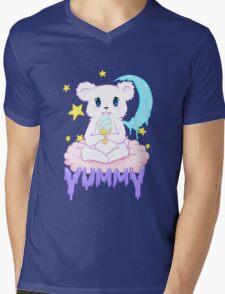 Moony Bear Mens V-Neck T-Shirt