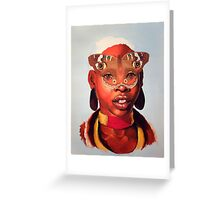 African Butterfly Mask Greeting Card