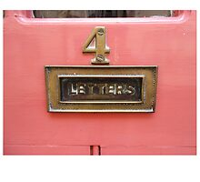 Pink Letter Box by Adam McCabe