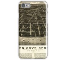 Panoramic Maps Green Cove Springs county seat of Clay County Florida 1885 iPhone Case/Skin
