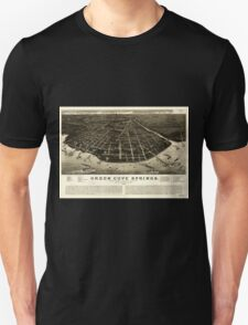 Panoramic Maps Green Cove Springs county seat of Clay County Florida 1885 T-Shirt