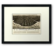 Panoramic Maps Green Cove Springs county seat of Clay County Florida 1885 Framed Print