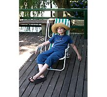 Boy on Vacations Photographic Print