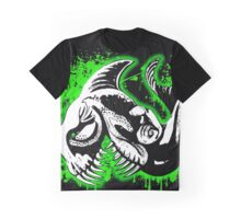 Feisty Fish Green and Black Graphic T-Shirt
