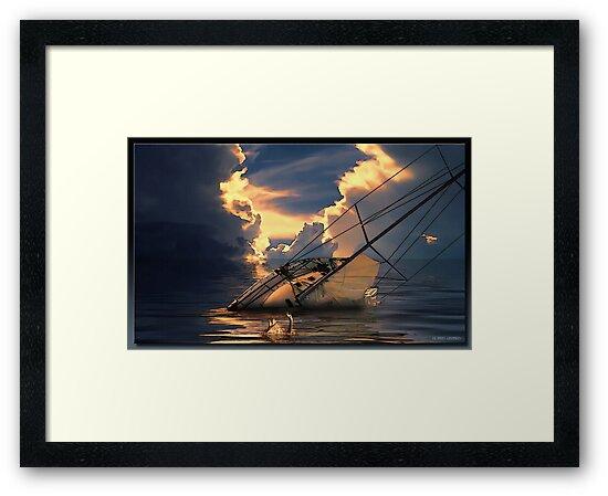 Sinking of The Louisa by Richard  Gerhard