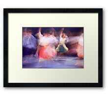 A group of Dancers in motion  Framed Print
