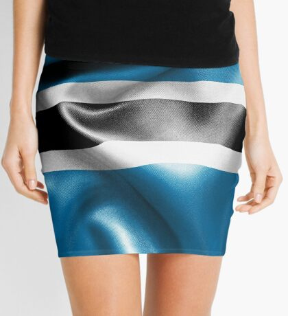 Botswana Flag Mini Skirt