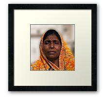 Elegant Orange Veil Framed Print