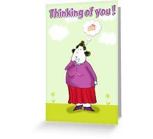 Thinking of you, with cake Greeting Card