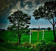 Three crosses by Cindy Crossley