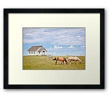 Town 1880, South Dakota Framed Print