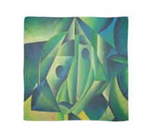 Cubist Abstract Of Village Woman Wearing A Headscarf Scarf