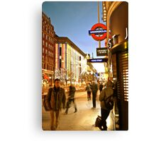 Oxford Street Movement Canvas Print