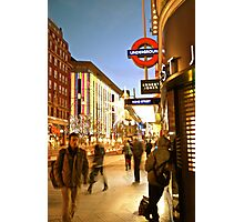 Oxford Street Movement Photographic Print