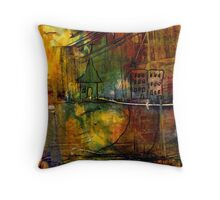 The House Jack Built in the Town Angela Imagined Throw Pillow