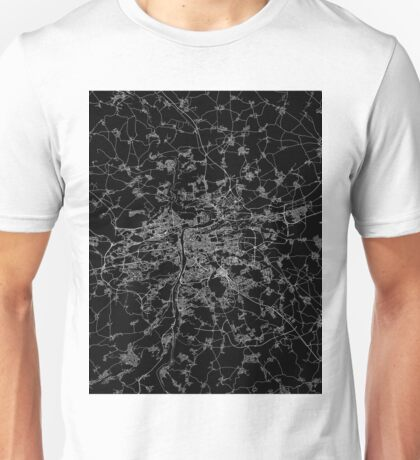 Prague map Czech Republic Unisex T-Shirt