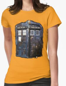 space tardis Womens Fitted T-Shirt