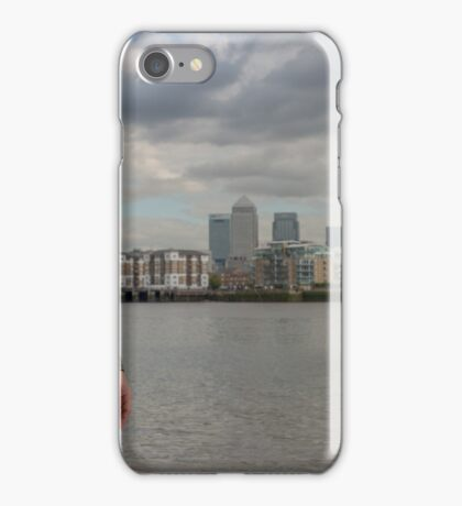 Sexy Male Model, Andrew with View of Docklands iPhone Case/Skin