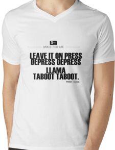 Phish - Llama Lyric quote Mens V-Neck T-Shirt