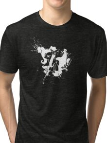 Fluttershy Ink Splatter Reverse Tri-blend T-Shirt