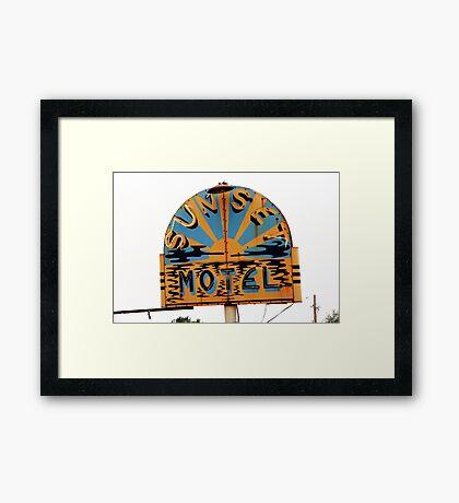 Route 66 - Sunset Motel Framed Print