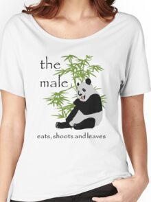 The Male Eats, Shoots and Leaves Women's Relaxed Fit T-Shirt