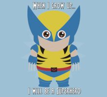 When I grow up, I will be a superhero Kids Clothes